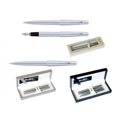К-кт Scrikss писалка, химикалка и авт.молив 78M в кутия лукс