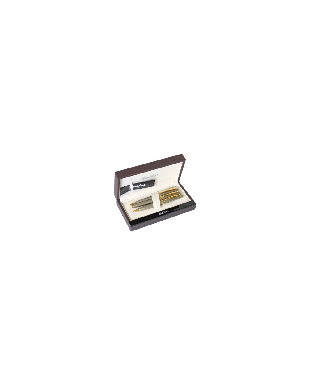 К-кт Scrikss писалка, химикалка и авт.молив 38 Black Gold в кутия лукс