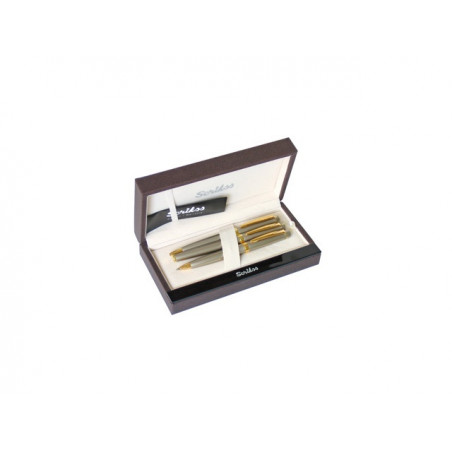 К-кт Scrikss писалка, химикалка и авт.молив 38 Satin Gold в кутия лукс