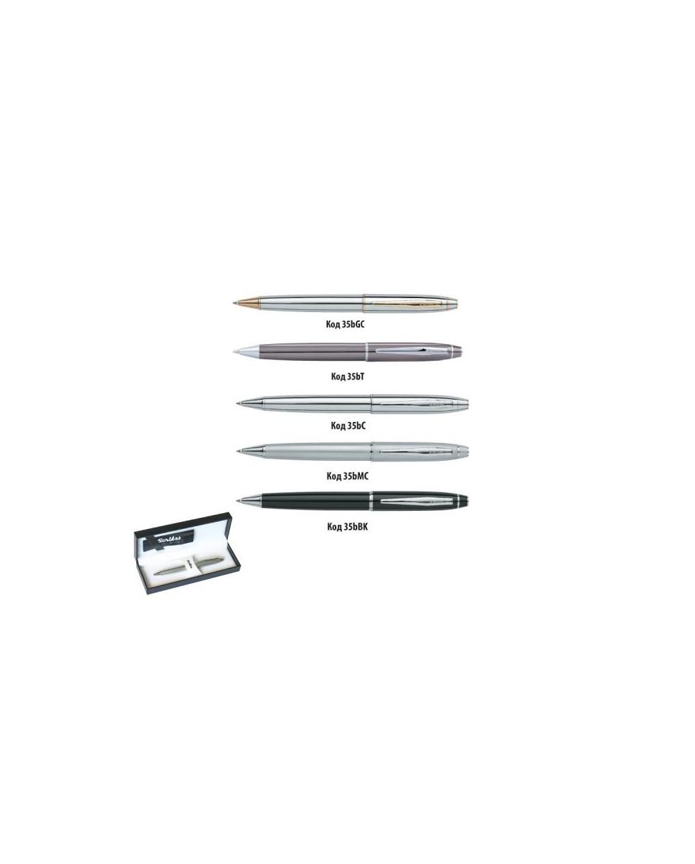 К-кт Scrikss химикалка и авт.молив 35 Chrome в кутия лукс