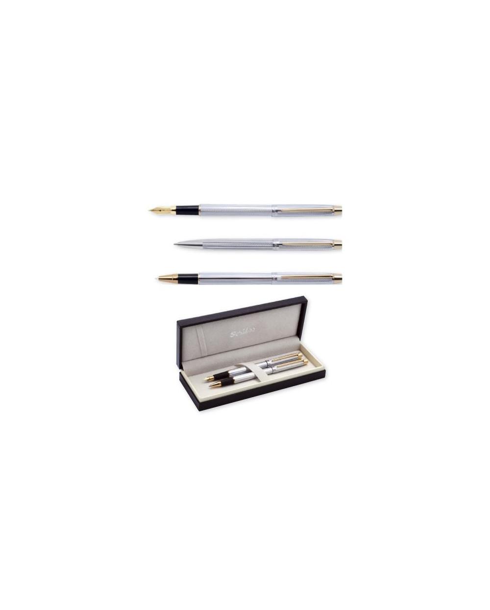 К-кт Scrikss писалка и химикалка 722 Venus Gold Chrome в кутия лукс