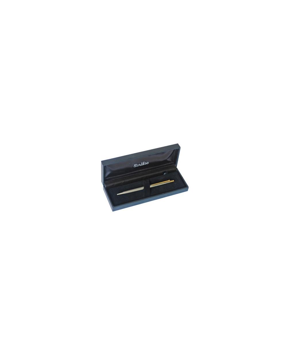Химикалка Scrikss 711 Line Cut Gold Chrome в кутия лукс