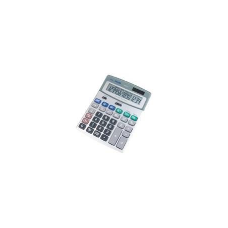 Калкулатор MILAN, 14 разр., 185x141x42 мм, сив, мет.панел