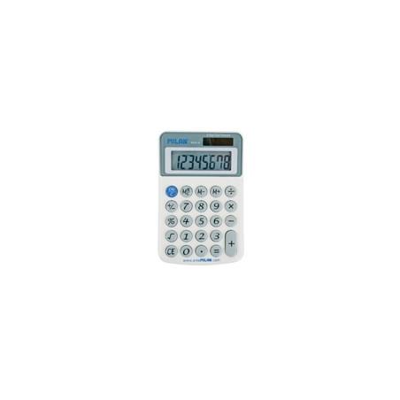 Калкулатор MILAN, 8 разр., 117x75x19 мм, сив