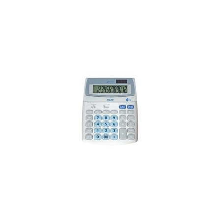Калкулатор MILAN, 12 разр., 200х160х30 мм, сив, сини бутони