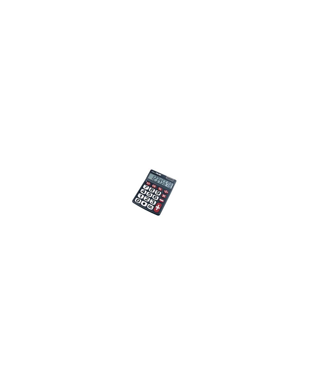 Калкулатор MILAN, 8 разр., 142x105x24 мм, големи бутони