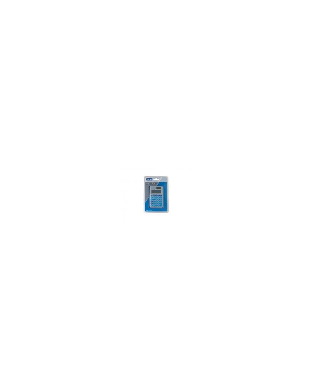 Калкулатор MILAN, 12 разр., 117х67х9, черен капак, сини бутони