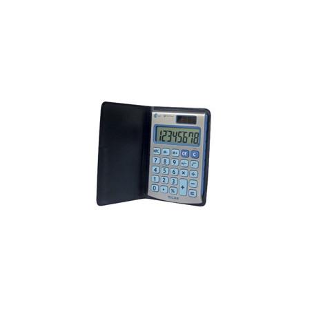 Калкулатор MILAN, 8 разряден, джобен 102х67х9, черен капак, сини бутони