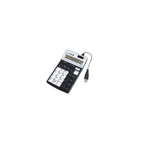 Калкулатор MILAN, 12 разр., 172x101x37, 3 USB порта, черен