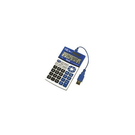 Калкулатор MILAN, 12 разр., 120x70x15, USB порт, син