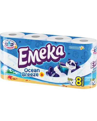 Тоалетна хартия Емека, 3 пласта, 8 броя