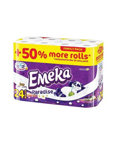 Тоалетна хартия Емека, 3 пласта, 24 бр.