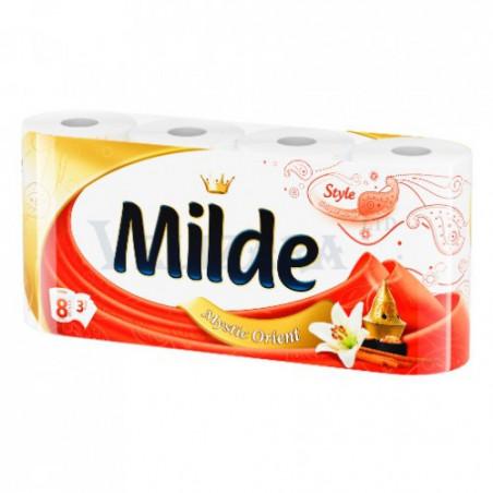 Тоалетна хартия Milde, 3 пласта, 8 бр.