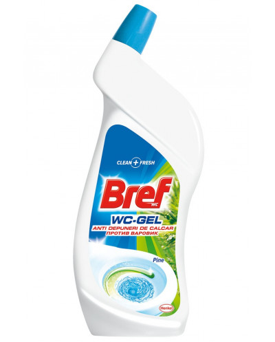 Почистващ гел за WC Bref, 750 мл.