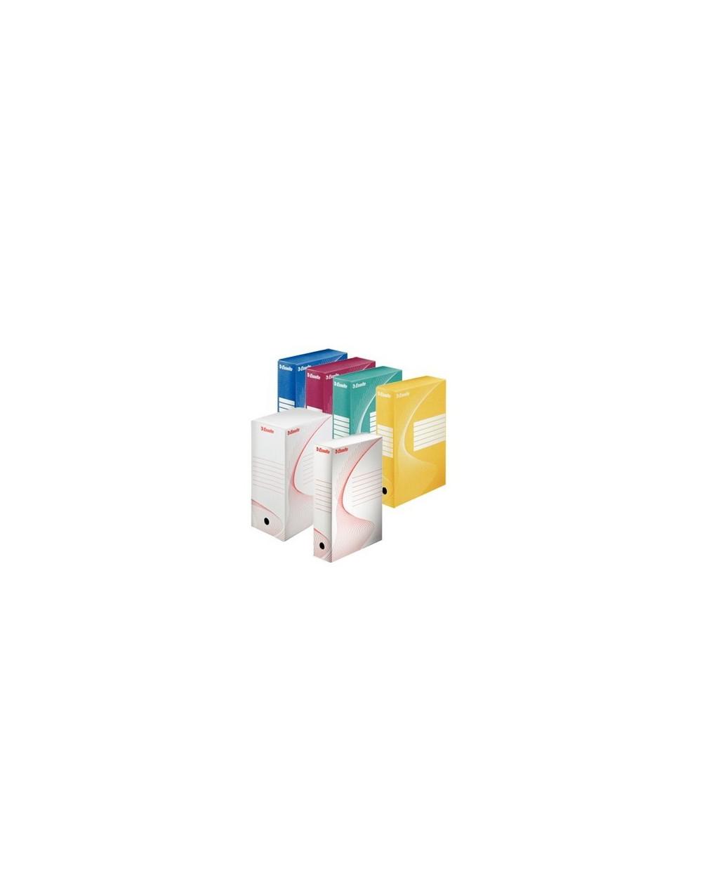 Архивна кутия Esselte цветна за контейнер - 100мм. гръб