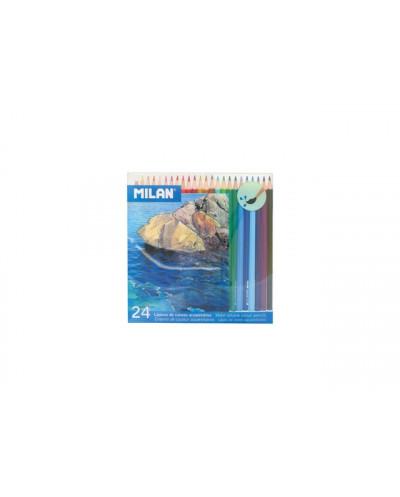 Моливи MILAN 24 цвята, акварелни