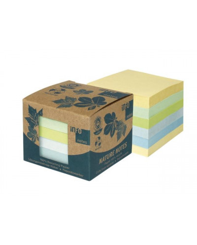 Листчета лепящи Global Notes, Nature box Water, 75х75 мм, 600 л.