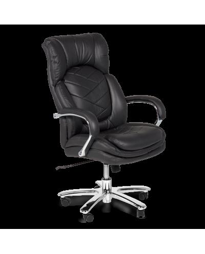 Президентски стол Carmen 8040 естествена кожа, черен