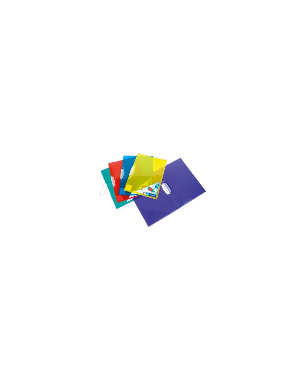 Папка VIQUEL с клип, V-CLIP, 30 листа, РР, цв.прозр., mix