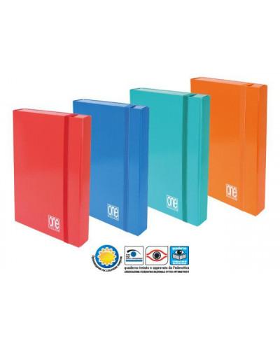 Кутия с ластик One Color 250х350х70, картон