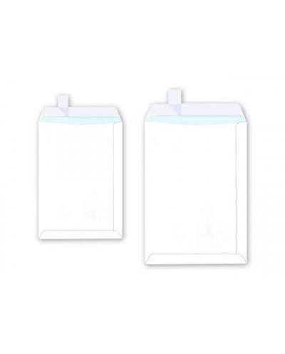 Плик джоб SPREE C4, 229х324, 50бр., бял с лента, 80 г/м2, FSC