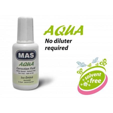 Коректор MAS воден Aqua, с четка, 20 мл