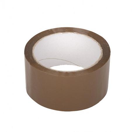 Лента лепяща 48 мм / 60 м, 25 µ, кафява, акрилна