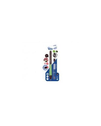 Химикалка Stylus, 1.0 мм, синя + 2 бр. пълнители + 2 бр. гумени накрайници, блистер
