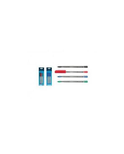 Химикалка Tops 505 M, синя, 4 бр. блистер