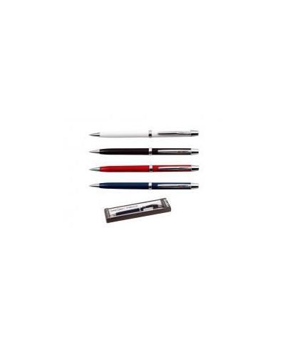 Химикалка 29 в кутия, черна, т.синя, бордо, перлено бяла