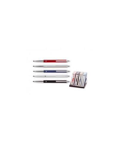 Гел химикалка 101 в кутия, черна, синя, бордо, хром, мат хром
