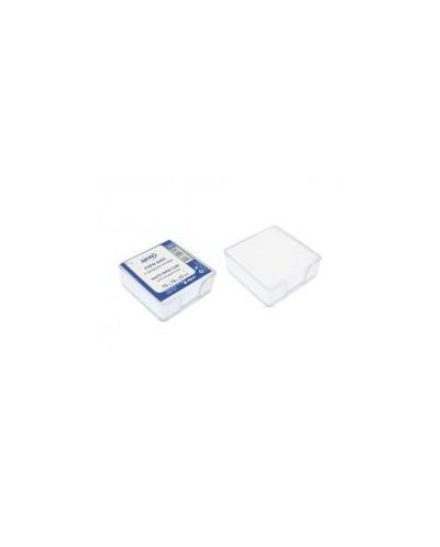 Кубче бяла хартия в пластм.поставка, 78х78х25 мм, прозр.