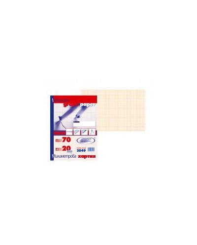Милиметрова хартия, SPREE, А4, 20 листа
