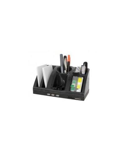 Органайзер хъб Techno, 3 USB порта и четец за 3 вида карти