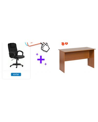 Мениджърски стол M 69 - черен + Бюро Carmen 30014 череша