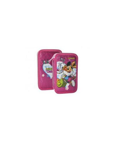 Несесер зареден двоен, Minnie & Daisy PVC glitter, 12.5x20.5x5