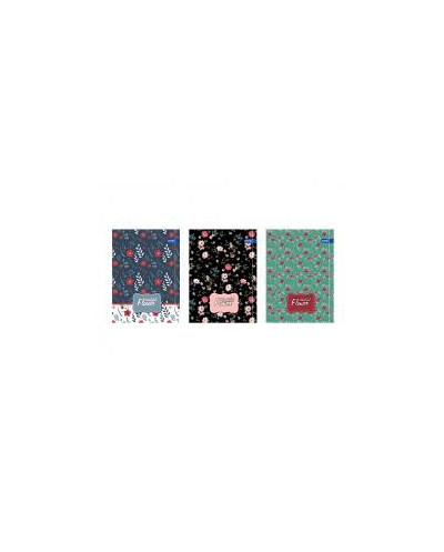 Тетрадка A5 мат/UV Flowers, 60+2 л.ред, 70 г/м2