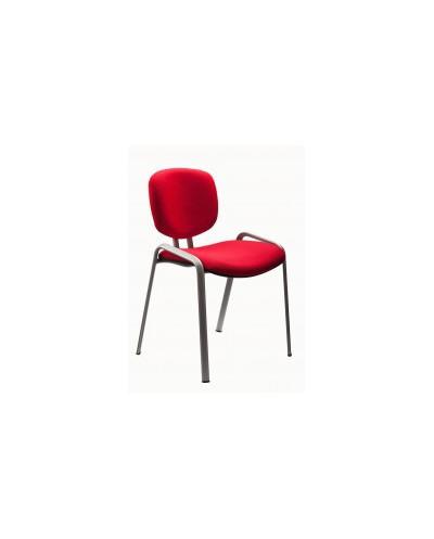 Посетителски стол ISY 45 мостра CR Black - Цвят Червен
