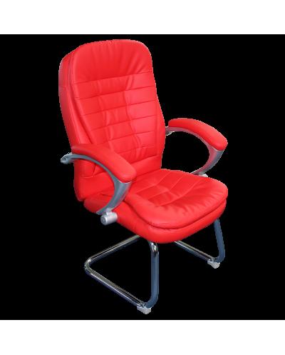 Посетителски стол CARMEN 6054 мостра цвят Червен