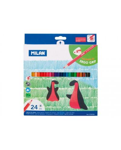 Моливи MILAN 12 цвята, триъгълни - серия 231