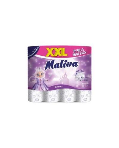 Тоалетна хартия Maliva 100% целулоза, трипластова 32 бр.