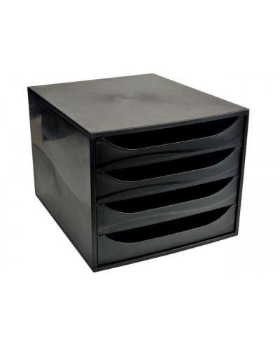 Бокс с 4 чекмеджета, ECO box черен (Ecoblack)