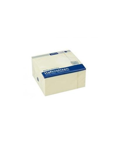 Самозалепващи листчета Office Point 75x75 mm, 400 л. Жълти