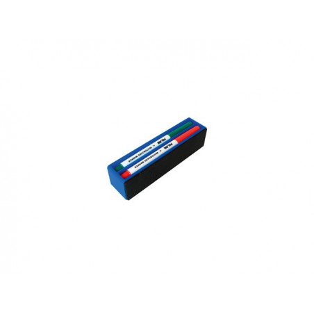 К-кт за бяла дъска MILAN, магнитна гъба + 4 бр. маркери Slim