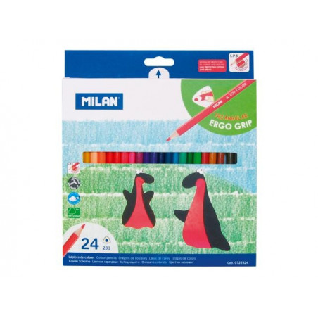 Моливи MILAN 24 цвята, триъгълни - серия 231