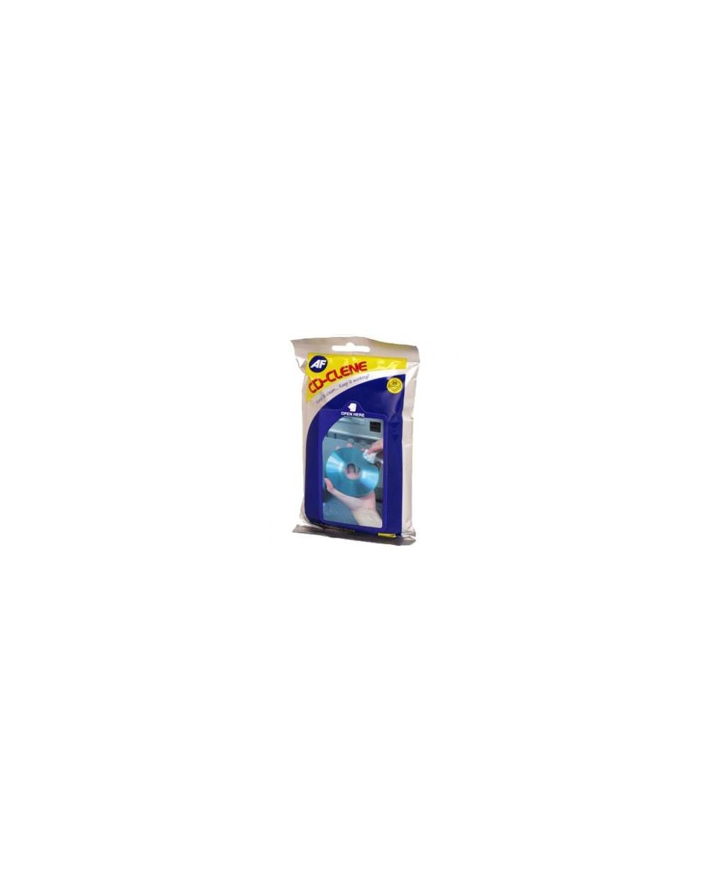 CD Clene Flatpack Навлажн.кърпички за почистване на дискове CD