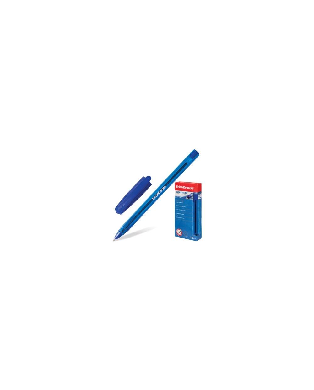 Химикалка Ultra Glide Technology U-18, синя, 12 бр.