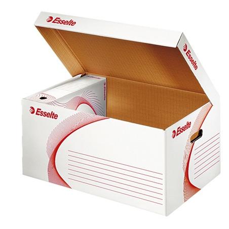 Контейнер картонен с капак - бял Esselte