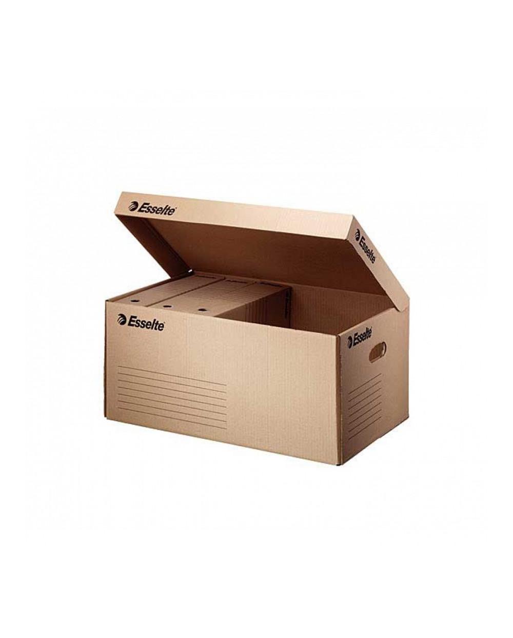 Контейнер картонен с капак - натурален Esselte