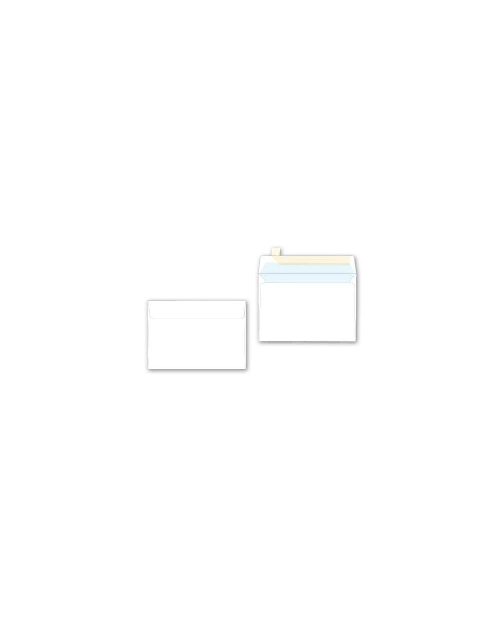 Плик SPREE C6, 114х162, бял с лента, 50бр., 80 г/м2, FSC